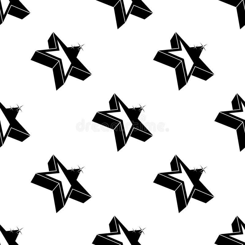 icono de la estrella 3d Elemento de los iconos de las estrellas para los apps móviles del concepto y del web El icono inconsútil  stock de ilustración