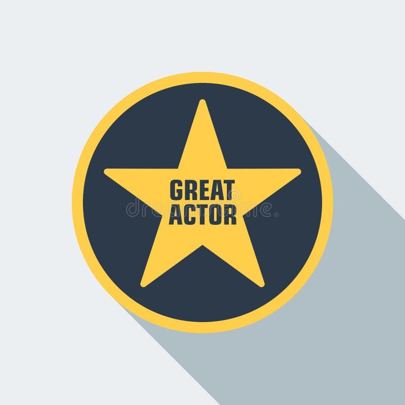 Icono de la estrella del cine ilustración del vector
