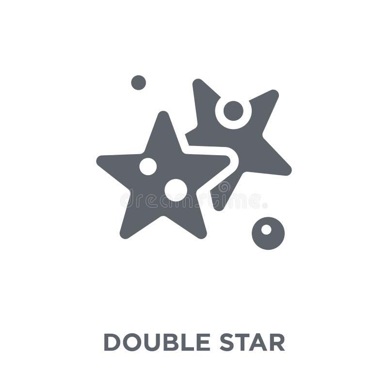 Icono de la estrella doble de la colección de la astronomía libre illustration