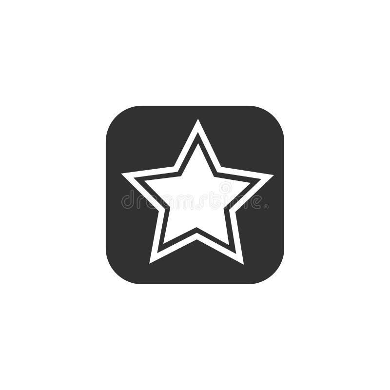 Icono de la estrella doble, ejemplo del vector aislado en el fondo blanco ilustración del vector