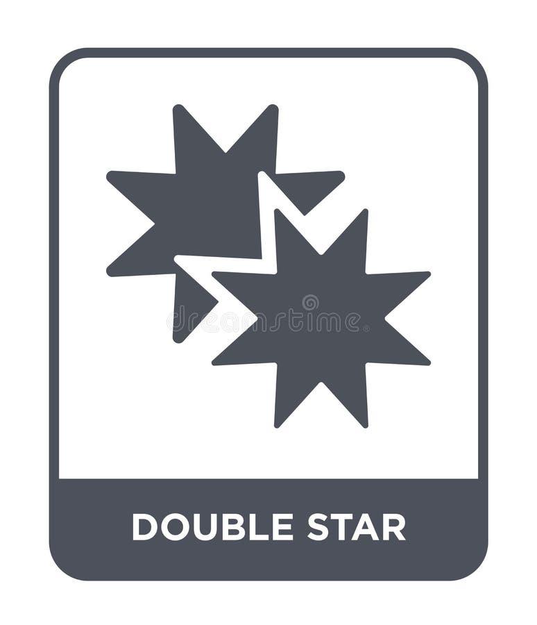 icono de la estrella doble en estilo de moda del diseño icono de la estrella doble aislado en el fondo blanco icono del vector de ilustración del vector