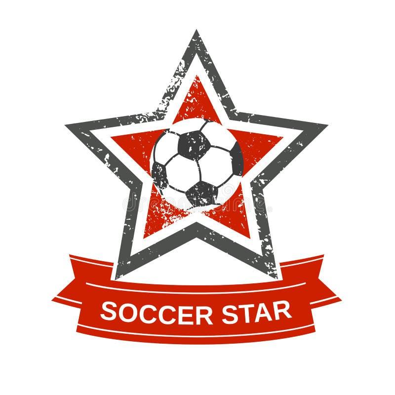 Icono de la estrella de fútbol stock de ilustración
