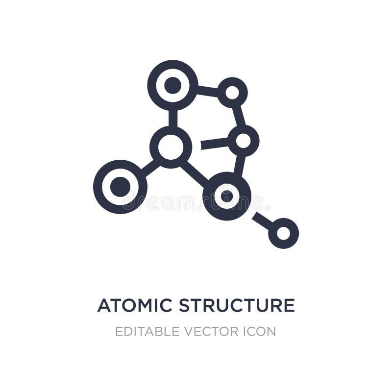 icono de la estructura atómica en el fondo blanco Ejemplo simple del elemento del concepto médico stock de ilustración