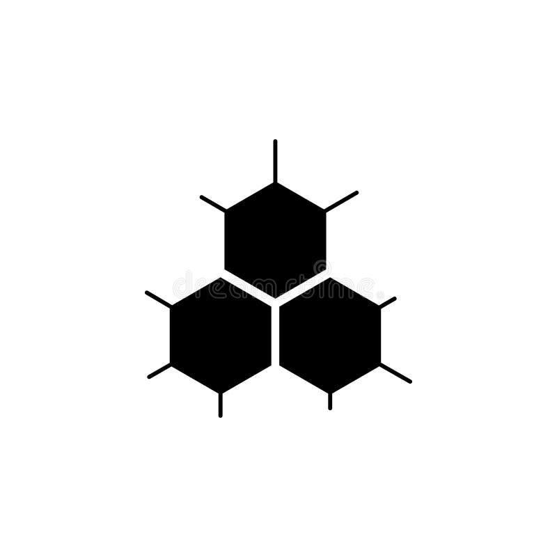 Icono de la estructura de célula stock de ilustración
