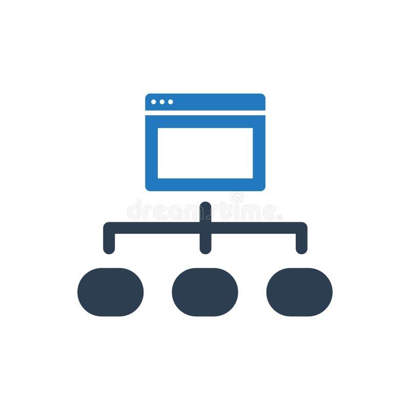 Icono de la estructura del navegador stock de ilustración