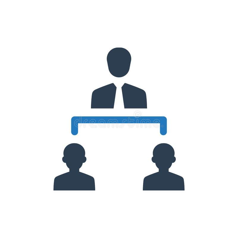 Icono de la estructura del negocio stock de ilustración