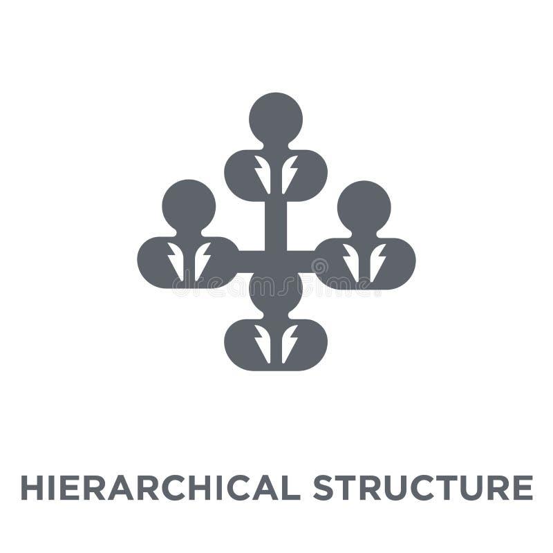 Icono de la estructura jerárquica de la colección de los recursos humanos stock de ilustración