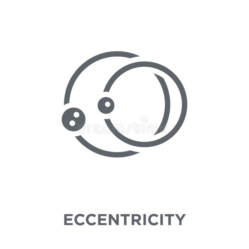 Icono de la excentricidad de la colección de la astronomía stock de ilustración