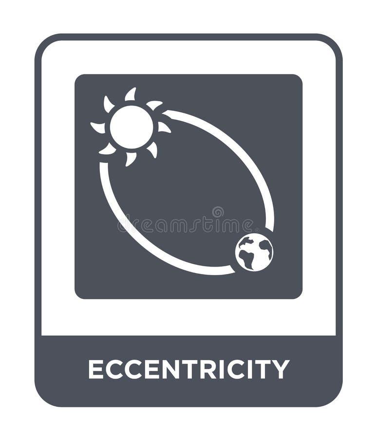 icono de la excentricidad en estilo de moda del diseño icono de la excentricidad aislado en el fondo blanco icono del vector de l ilustración del vector