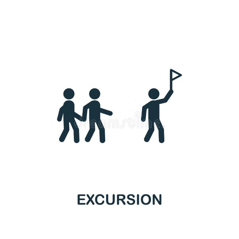 Icono de la excursión Diseño creativo del elemento de la colección de los iconos del turismo Icono perfecto para el diseño web, a libre illustration