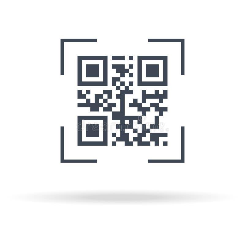 Icono de la exploración de QR el concepto de codifica, matriz, comercio electr?nico, software, acceso, m?rketing, exploraci?n Ais libre illustration