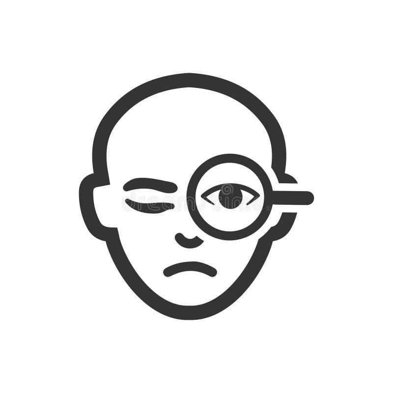 Icono de la exploración de la retina libre illustration