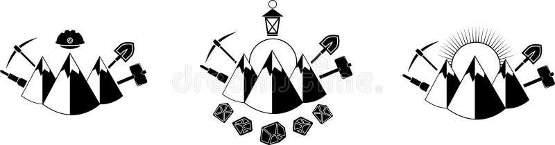 Icono de la explotación minera ilustración del vector