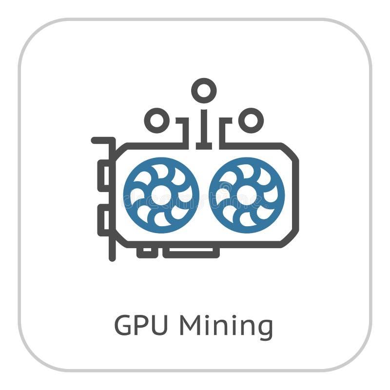 Icono de la explotación minera de GPU ilustración del vector