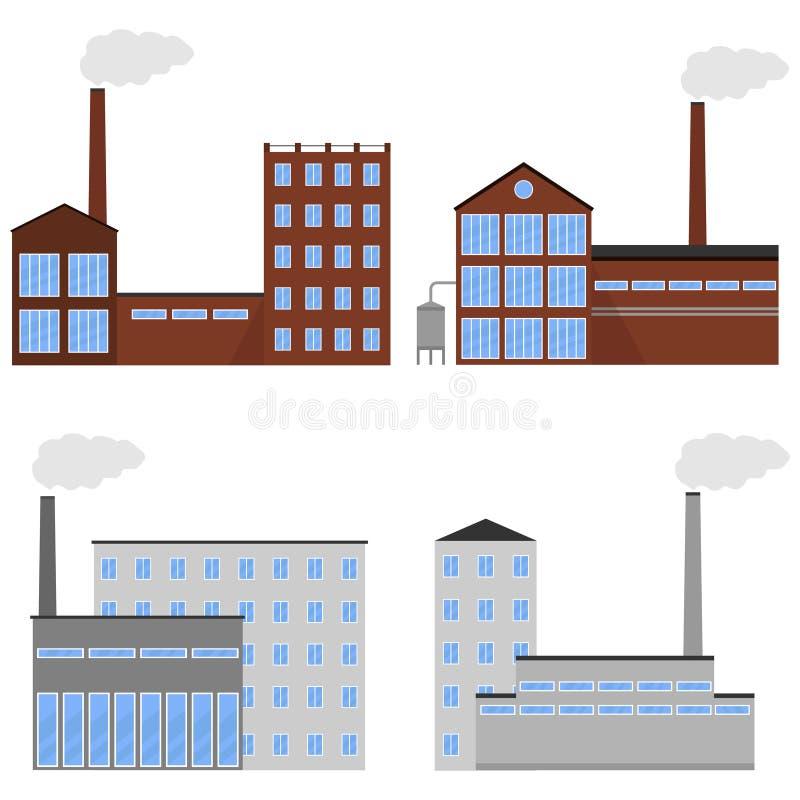 Icono de la fábrica ilustración del vector