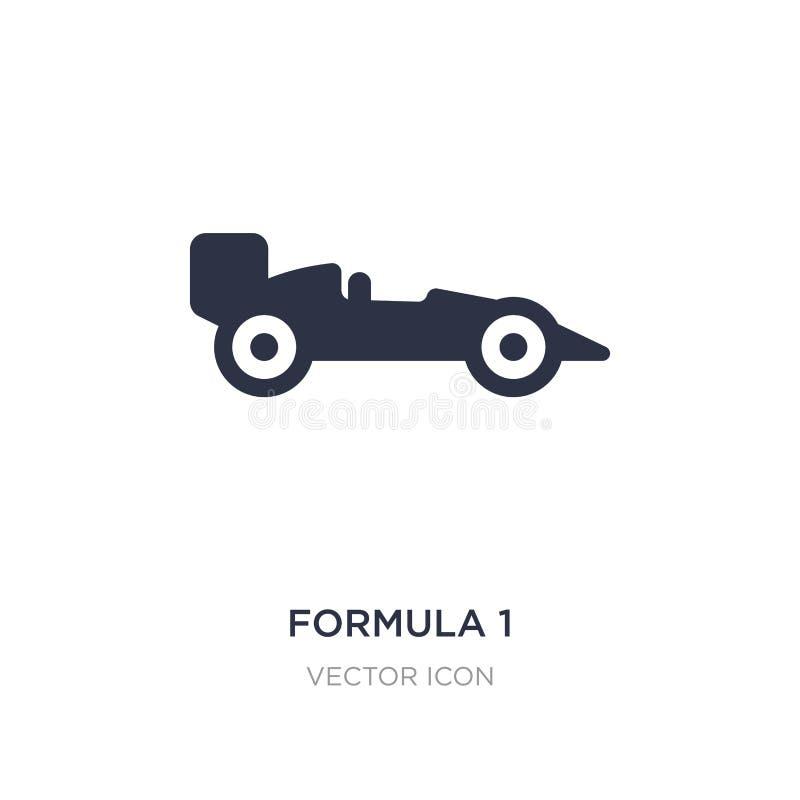 icono de la fórmula 1 en el fondo blanco Ejemplo simple del elemento del concepto del transporte ilustración del vector
