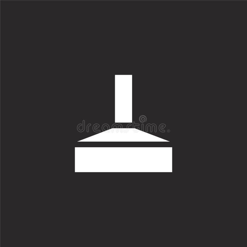 Icono de la f?brica Icono llenado de la fábrica para el diseño y el móvil, desarrollo de la página web del app icono de la fábric stock de ilustración