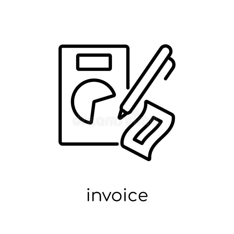 Icono de la factura  stock de ilustración