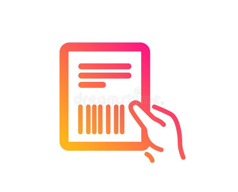 Icono de la factura del paquete Documento de la entrega Vector ilustración del vector
