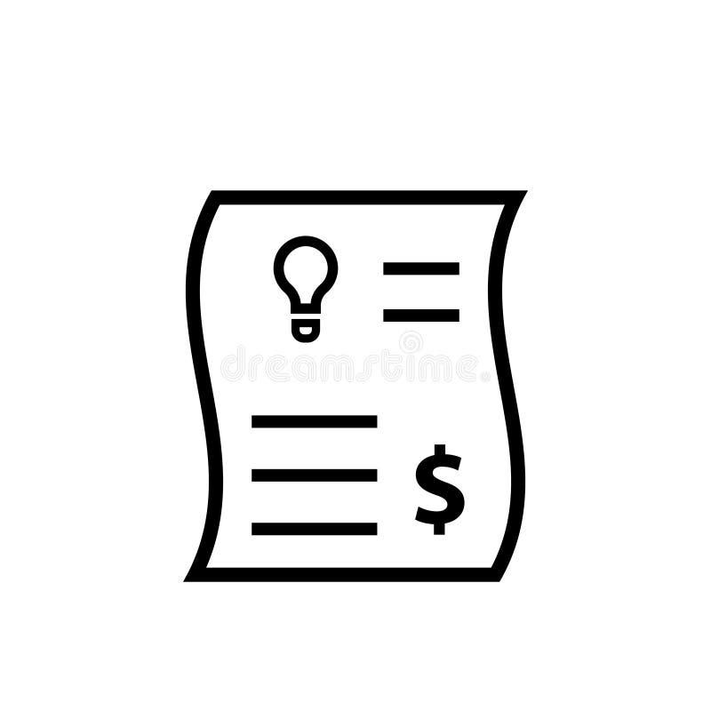 Icono de la factura de servicios públicos de la electricidad libre illustration