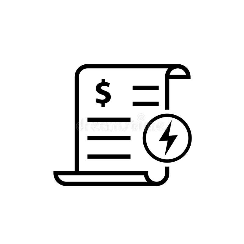 Icono de la factura de servicios públicos de la energía libre illustration