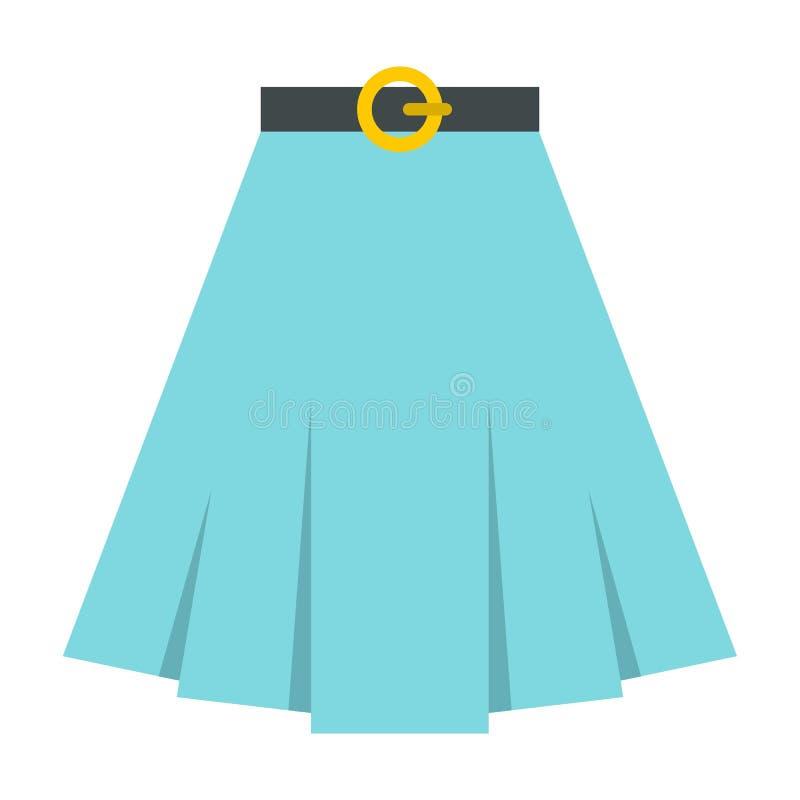 Icono de la falda, estilo plano ilustración del vector