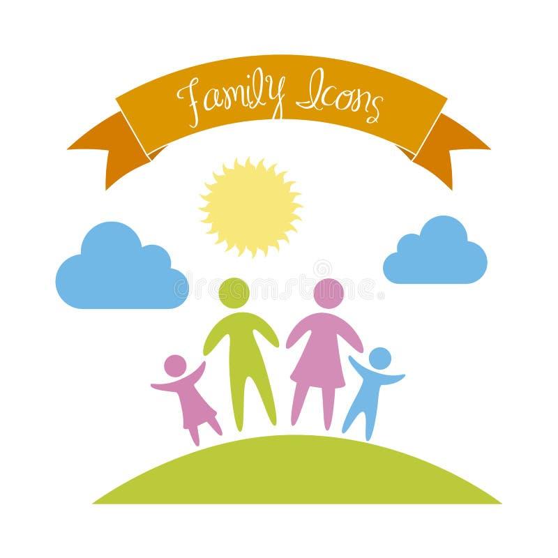 Icono de la familia stock de ilustración