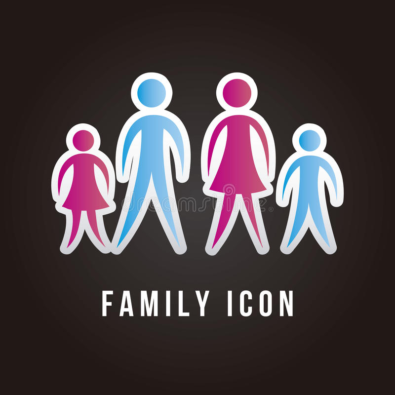 Icono de la familia libre illustration