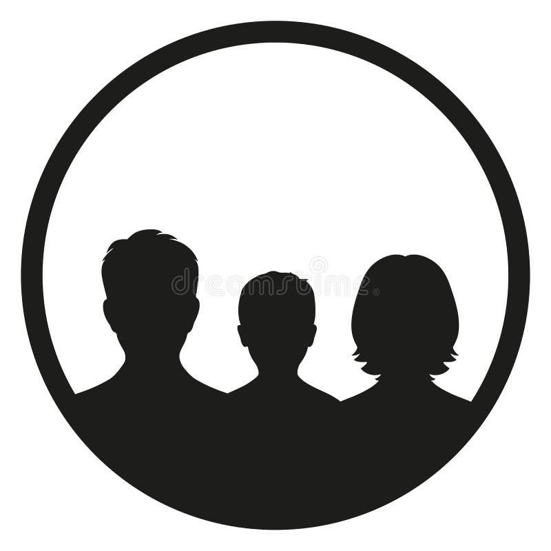 Icono de la familia en estilo de moda aislado en el fondo blanco ilustración del vector