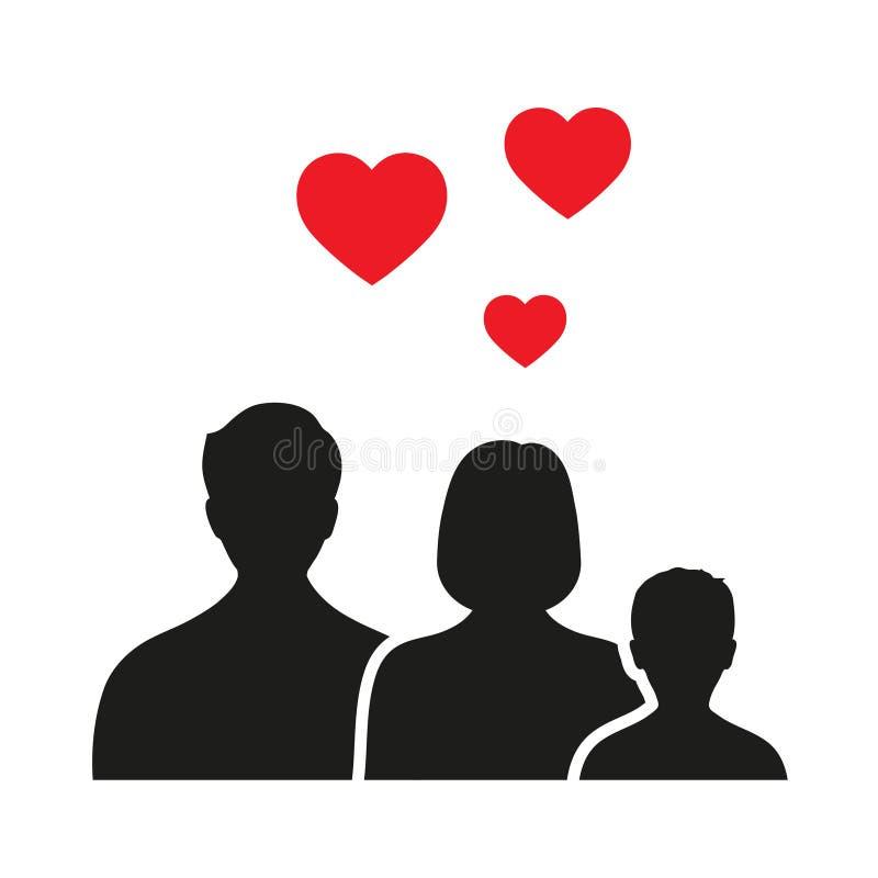 Icono de la familia en estilo de moda aislado en el fondo blanco Símbolo para su diseño del sitio web, logotipo, app, UI de los p libre illustration