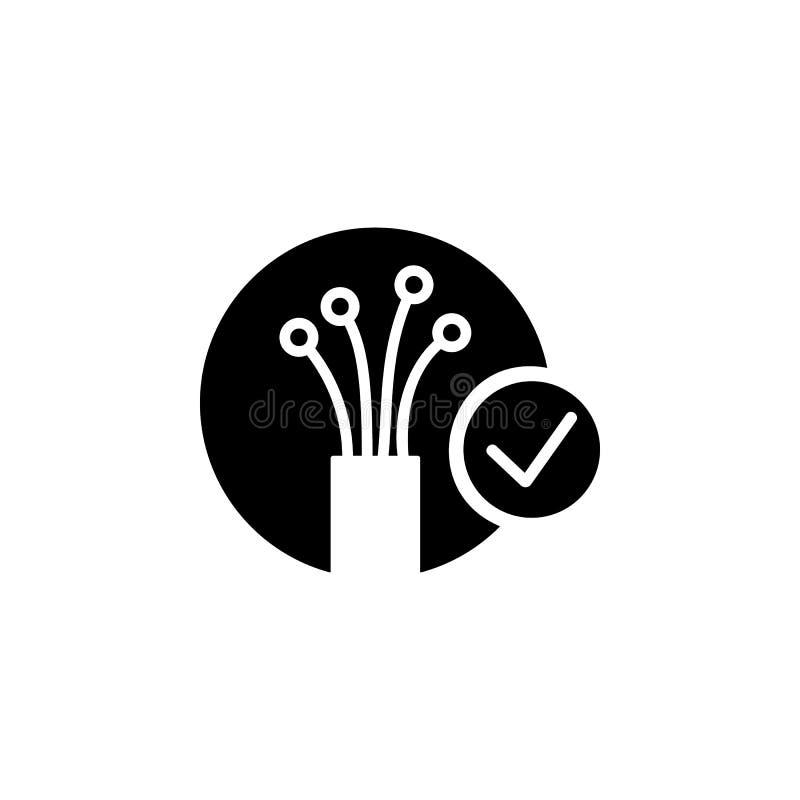 icono de la fibra óptica Elemento del icono de la conexión a internet Icono superior del diseño gráfico de la calidad Muestras e  libre illustration