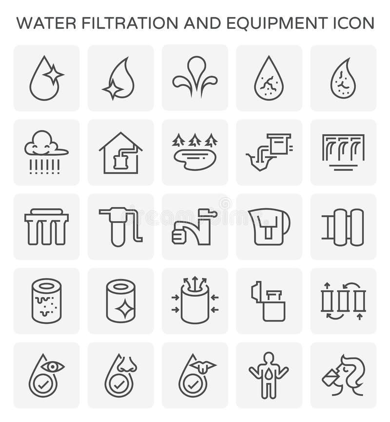 Icono de la filtración del agua stock de ilustración