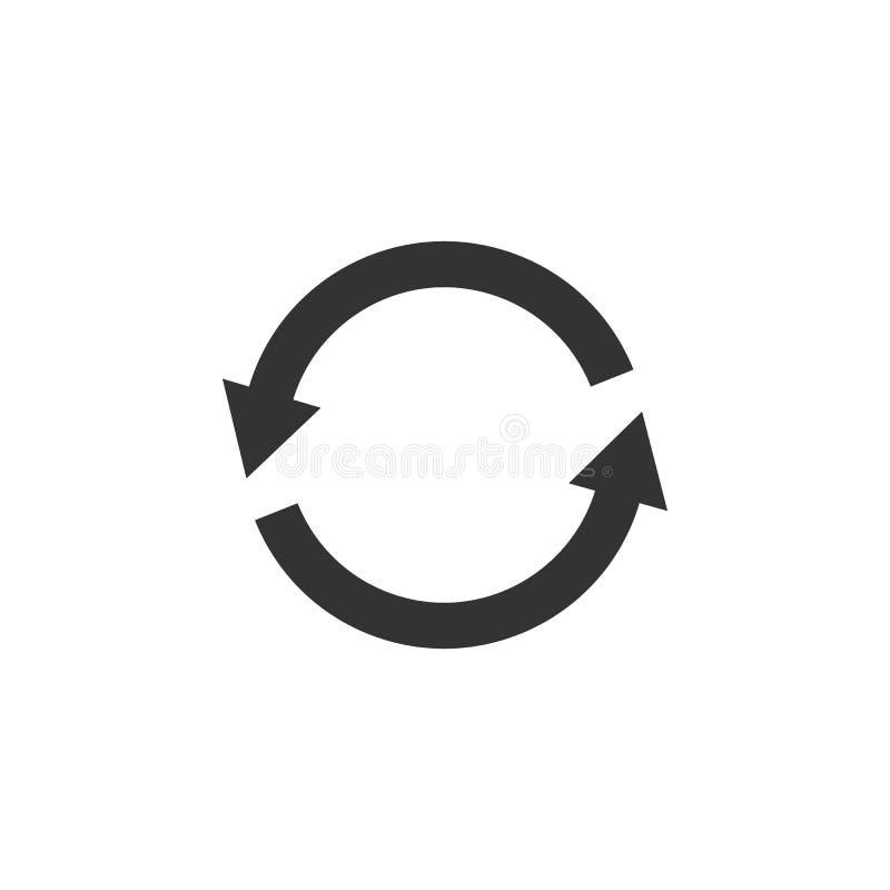 Icono de la flecha del círculo Ejemplo del vector, diseño plano fotos de archivo libres de regalías