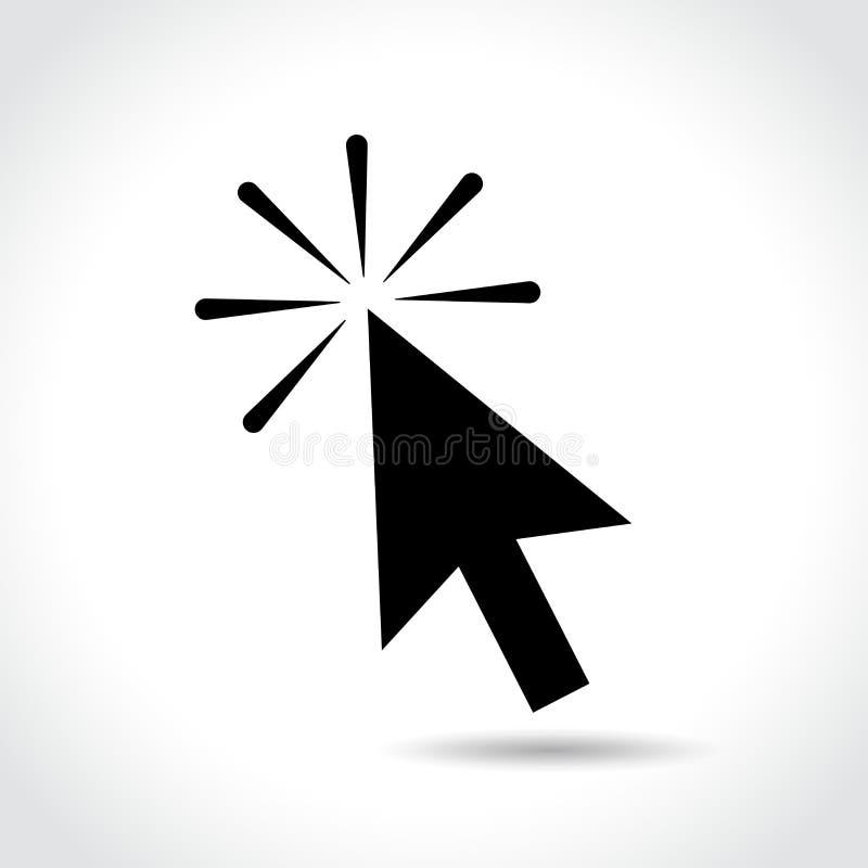 Icono de la flecha del ratón del ordenador de Clic libre illustration