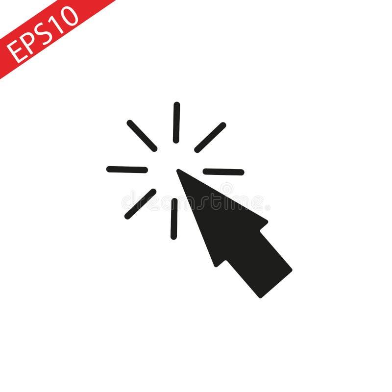 Icono de la flecha del rat?n, icono del vector de la flecha del rat?n del ordenador, flecha del rat?n en estilo plano de moda libre illustration