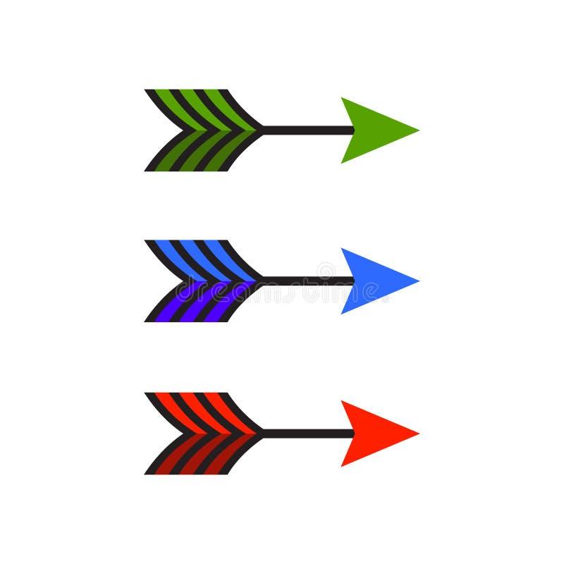 Icono de la flecha en estilo plano de moda aislado en el fondo blanco Símbolo para su diseño del sitio web, logotipo, app de la f stock de ilustración
