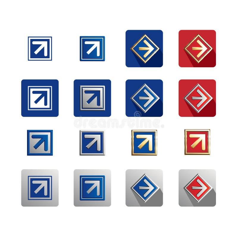 Icono de la flecha en la caja imagen de archivo libre de regalías