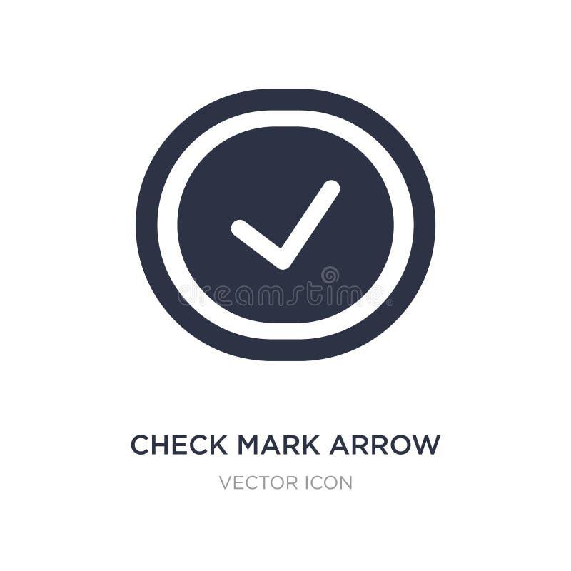 icono de la flecha de la marca de verificación en el fondo blanco Ejemplo simple del elemento del concepto de UI libre illustration