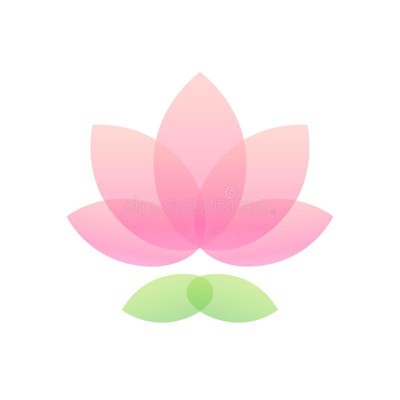 Icono de la flor de Lotus ilustración del vector