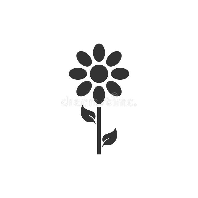 Icono de la flor plano ilustración del vector
