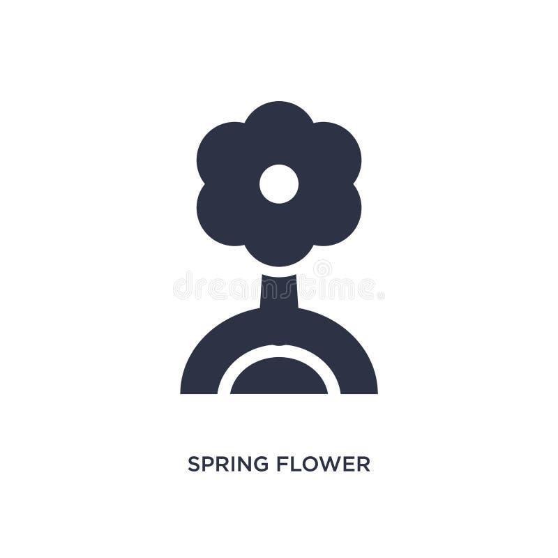 icono de la flor de la primavera en el fondo blanco Ejemplo simple del elemento del concepto agrícola y que cultiva un huerto de  stock de ilustración