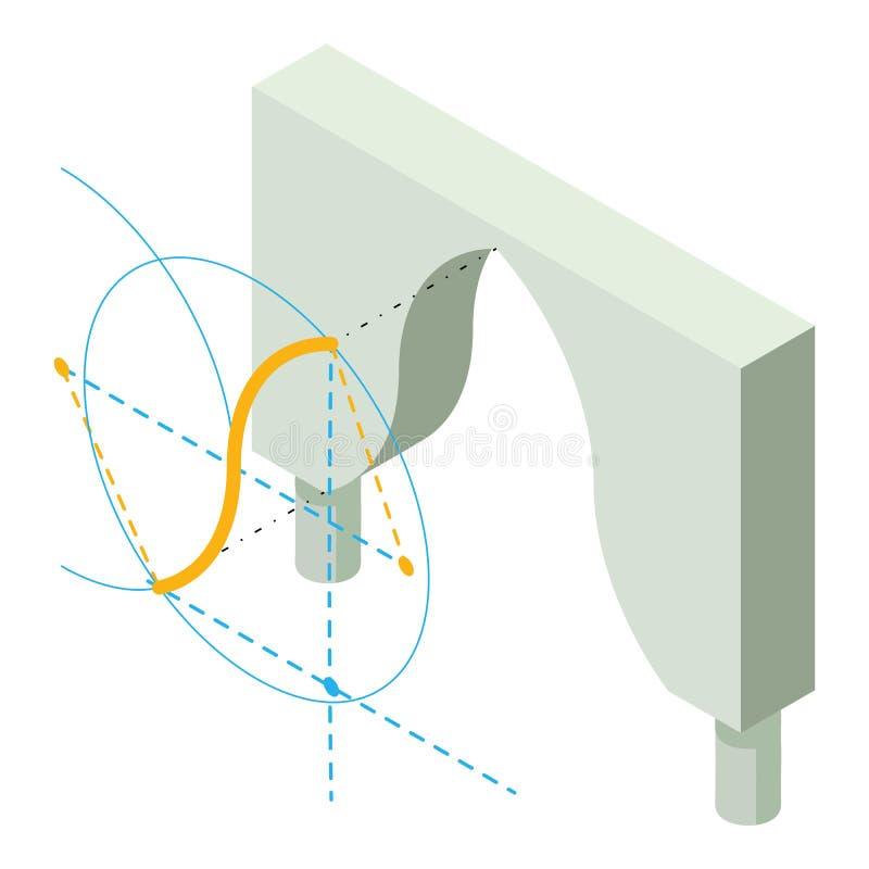 Icono de la forma del arco, estilo isométrico 3d libre illustration
