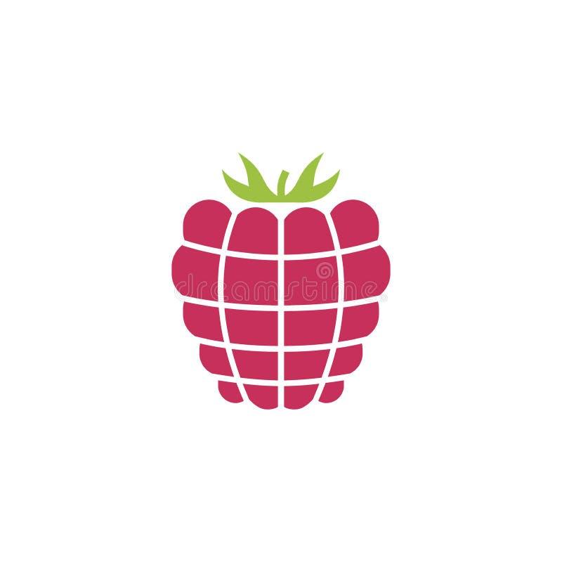 Icono de la frambuesa, diseño simple, clip art del icono de la frambuesa stock de ilustración