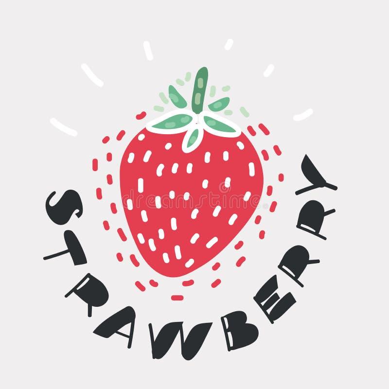 Icono de la fresa de la fruta libre illustration