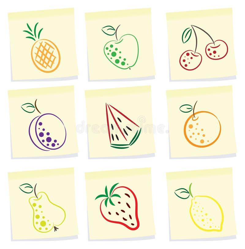 Icono de la fruta stock de ilustración
