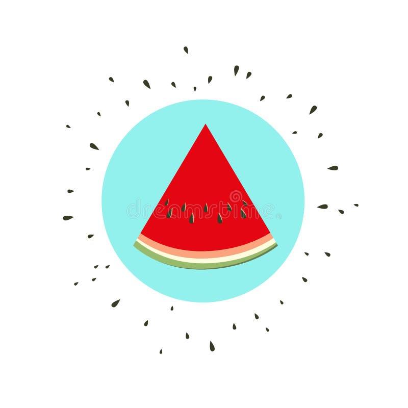 Icono de la fruta del melón ilustración del vector