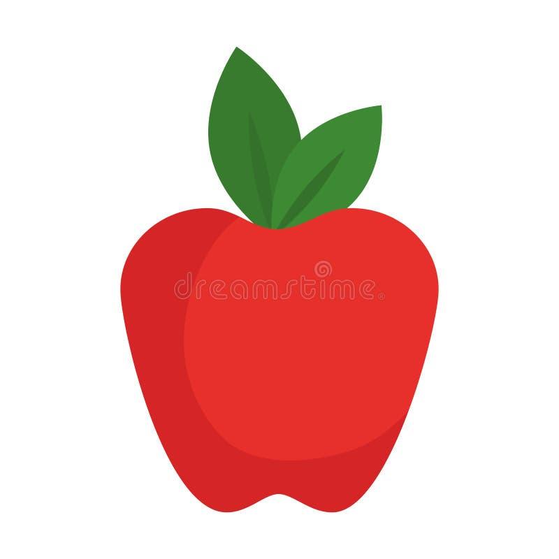 Icono de la fruta fresca de Apple ilustración del vector