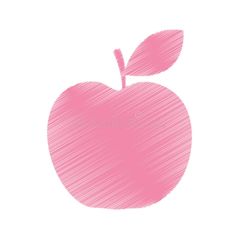 Icono de la fruta fresca de Apple stock de ilustración