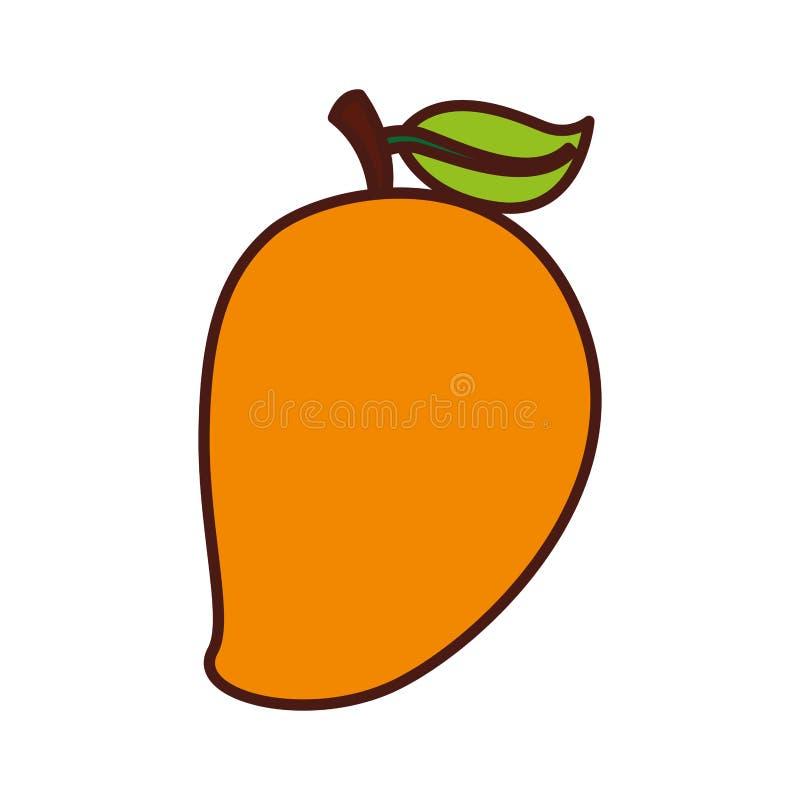Icono de la fruta fresca del mango stock de ilustración