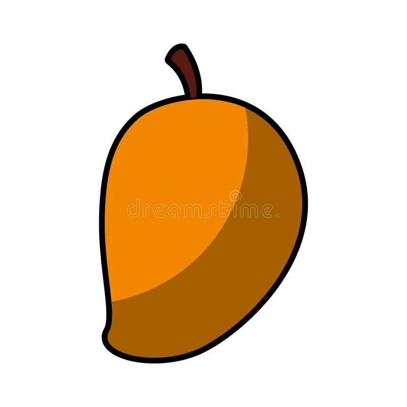 Icono de la fruta fresca del mango ilustración del vector